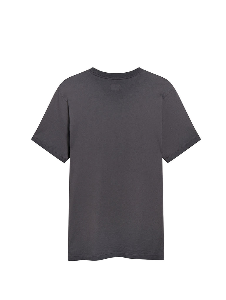 Re-Colour Makò Jersey Sailor Logo Crew T-Shirt in Charcoal