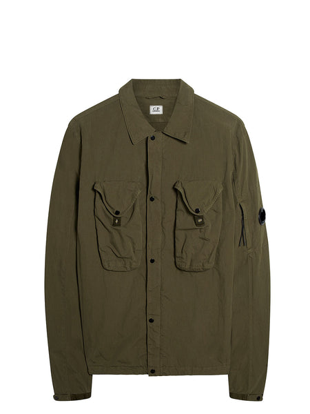 50 Fili Overshirt in Dusty Olive