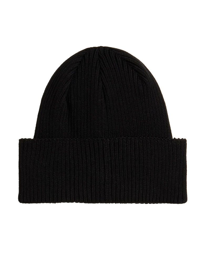 Cotton Goggle Beanie in Black