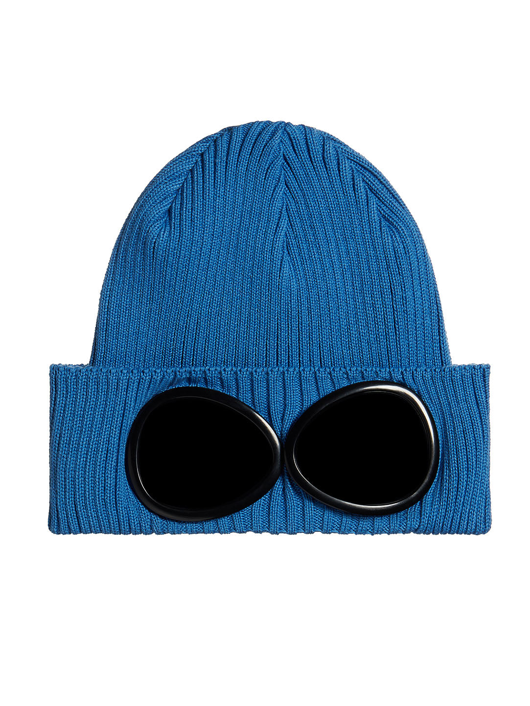 a73226d50 C.P. Company | Cotton Goggle Beanie in Imperial Blue
