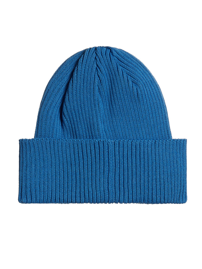 Cotton Goggle Beanie in Imperial Blue