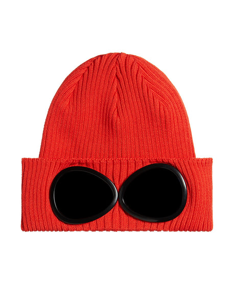 Cotton Goggle Beanie in Poinciana