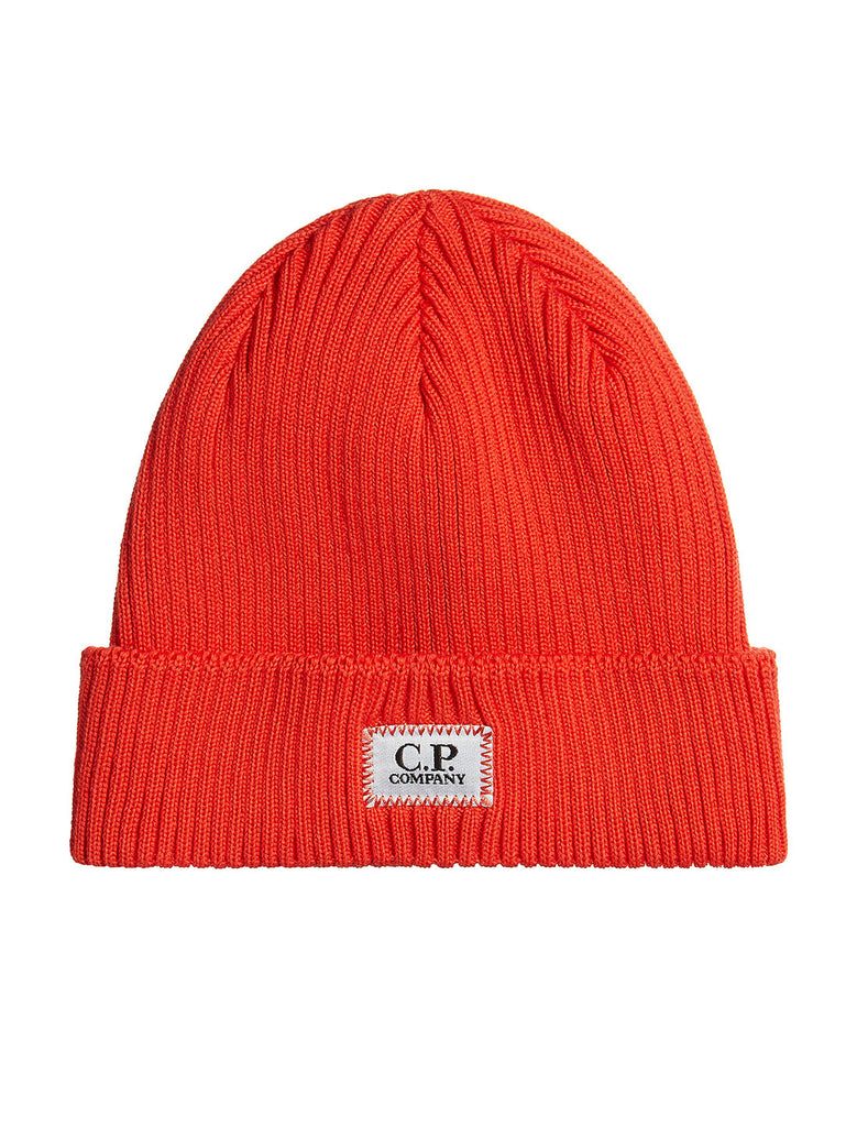 Cotton Ribbed Beanie in Poinciana