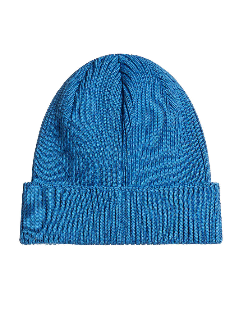 Cotton Ribbed Beanie in Imperial Blue