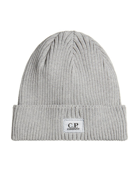 03df5598122 Cotton Ribbed Beanie in Grey Melange