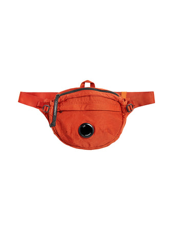 Garment Dyed Nylon Sateen Lens Waist Bag in Pureed Pumpkin