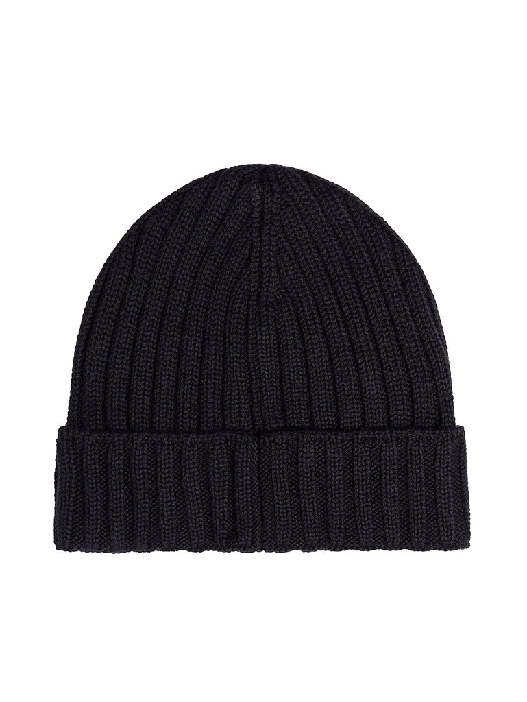EXTRA FINE MERINO WOOL BEANIE in Total Eclipse