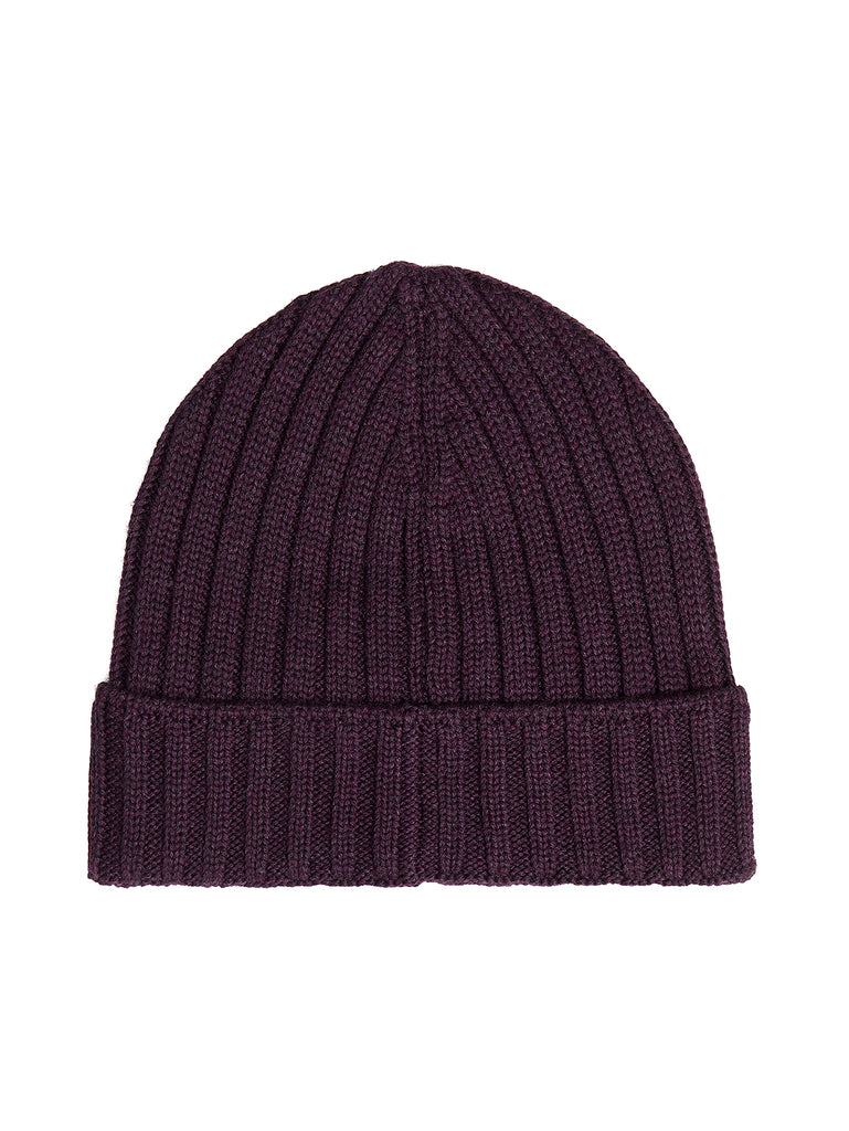Extra Fine Merino Wool Beanie in Bitter Chocolate