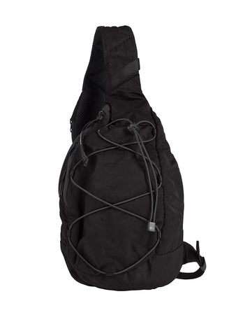 Nylon B. Crossbody Lens Backpack in Black