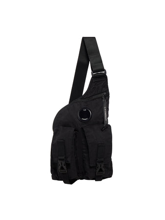 Nylon B. Crossbody Lens Utility Pack in Black