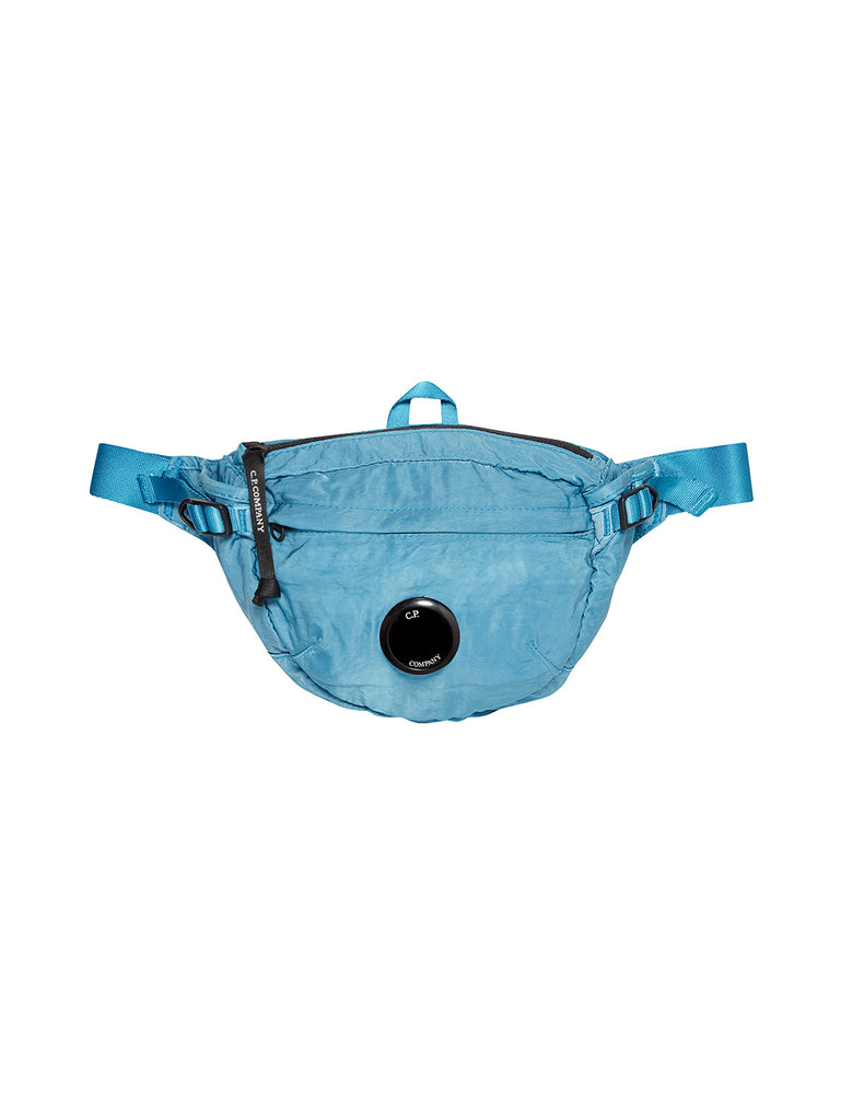 Garment Dyed Nylon Sateen Lens Waist Bag in Bluejay