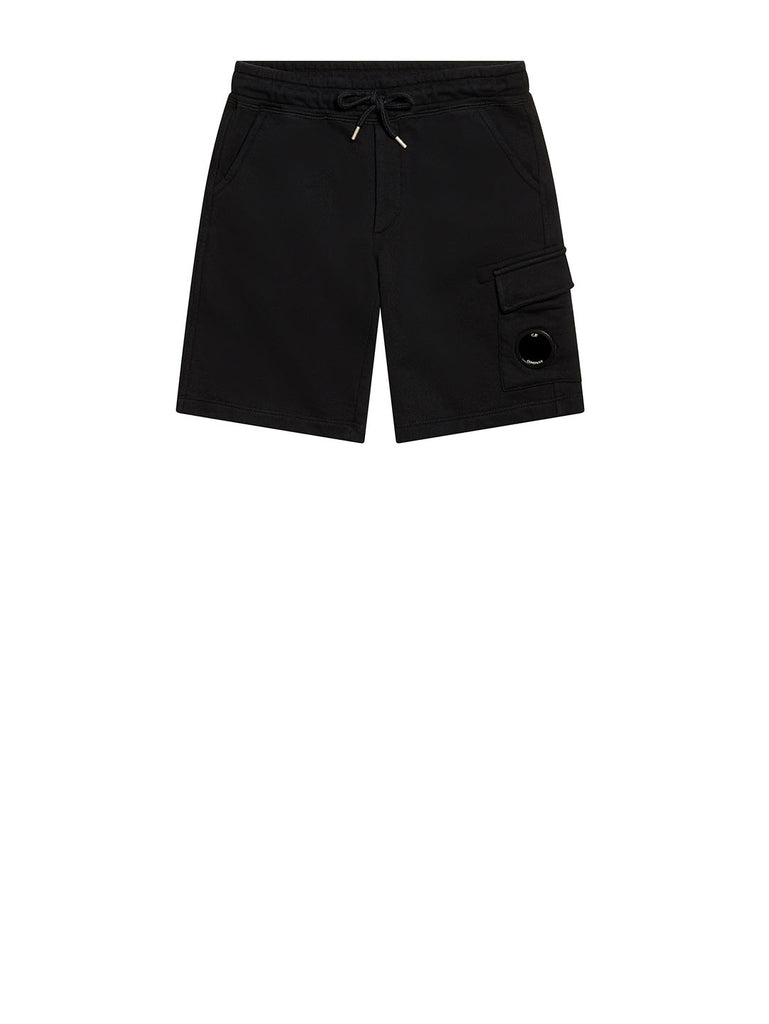 Undersixteen Basic Fleece Lens Pocket Sweatshorts in Total Eclipse