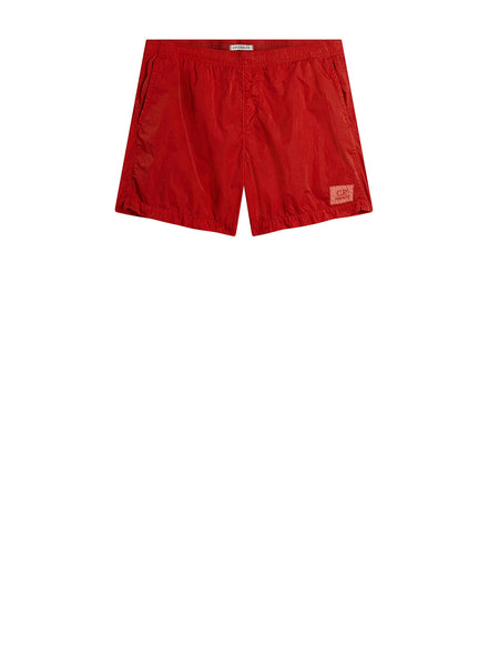 Chrome Swim Short in Poinciana