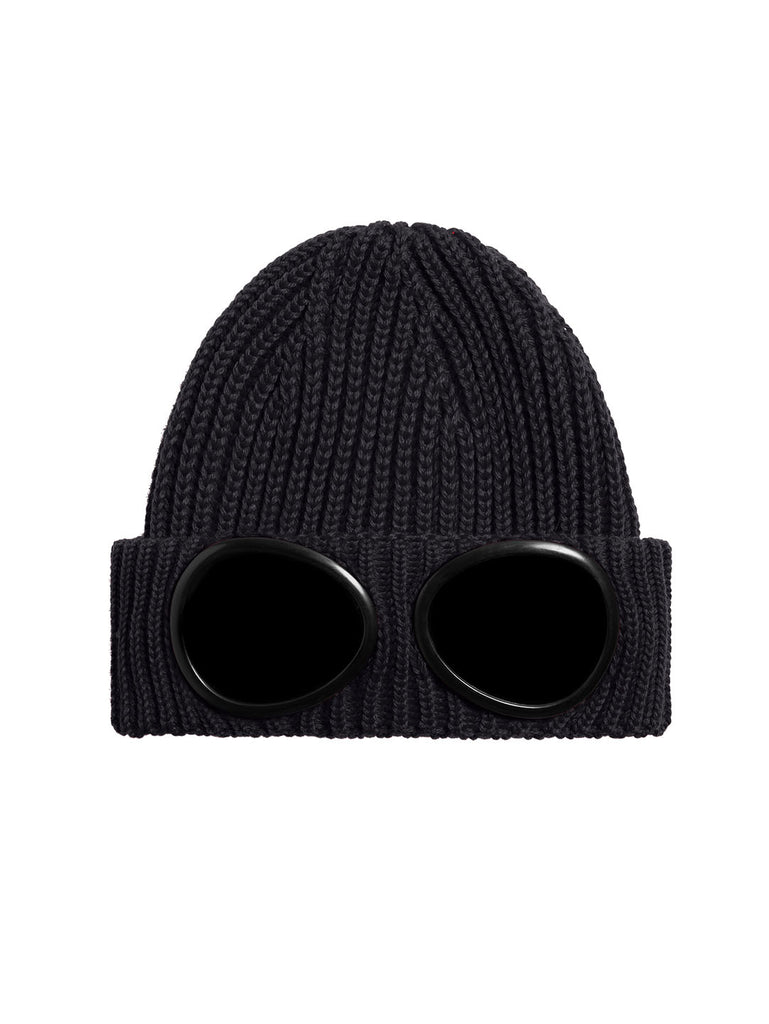 Merino Wool Goggle Beanie in Total Eclipse
