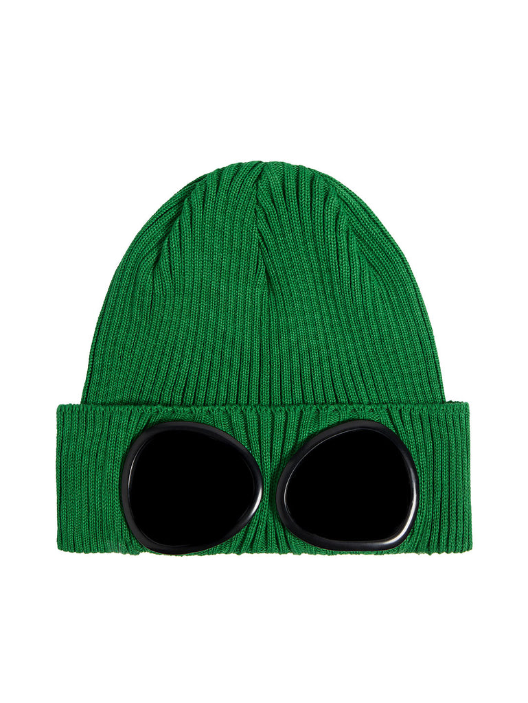 Cotton Goggle Beanie in Jelly Bean