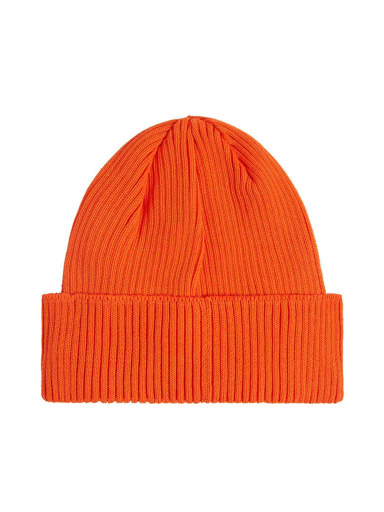 Cotton Goggle Beanie in Spicy Orange