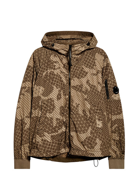 Camo Net Lens Sleeve Jacket in Beech