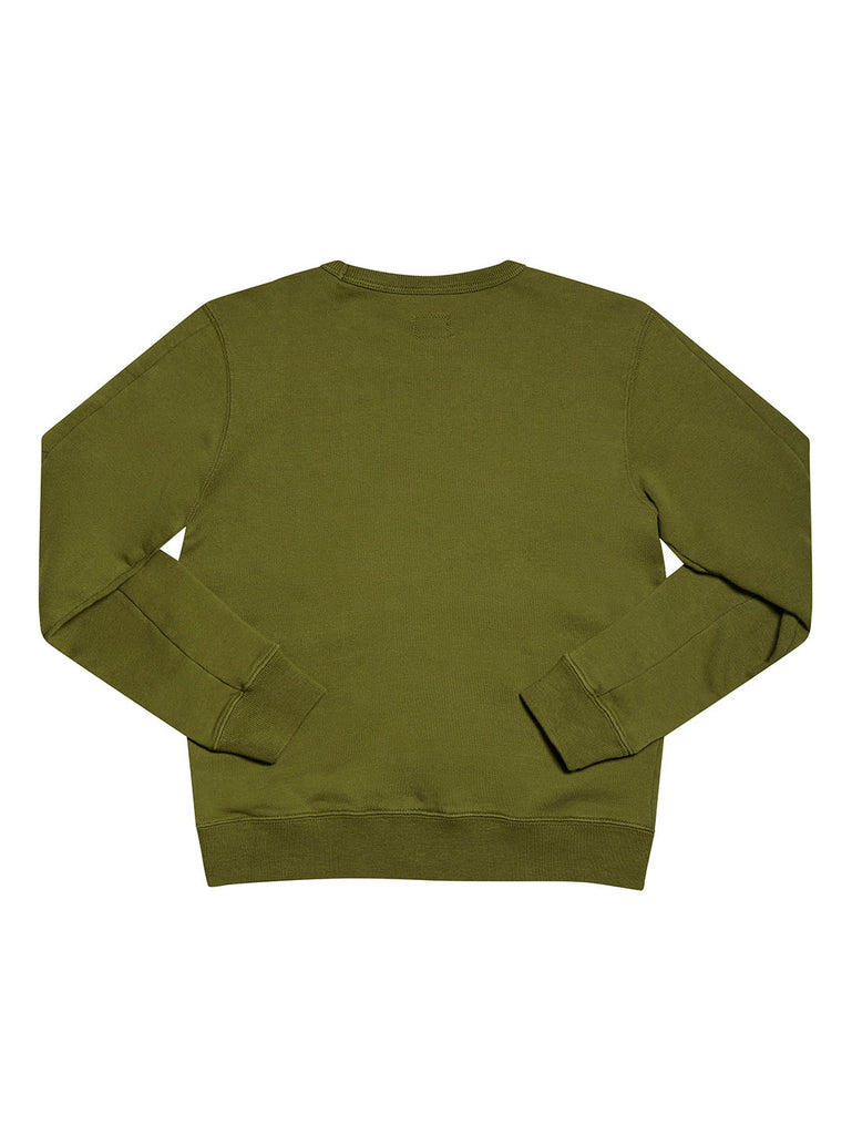 Undersixteen Basic Lens Sleeve Crewneck Sweatshirt in Beech