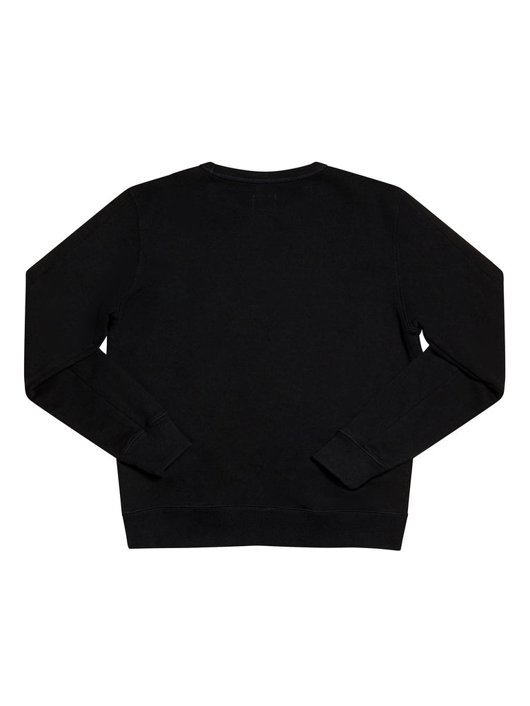 Undersixteen Basic Lens Sleeve Crewneck Sweatshirt in Total Eclipse