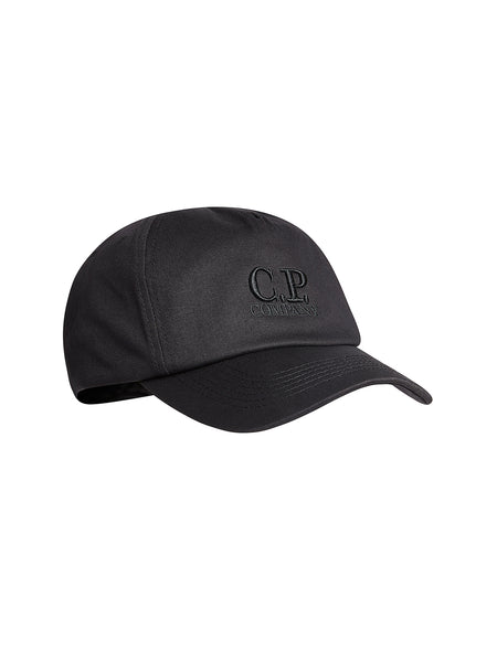Gabardine Baseball Cap in Black