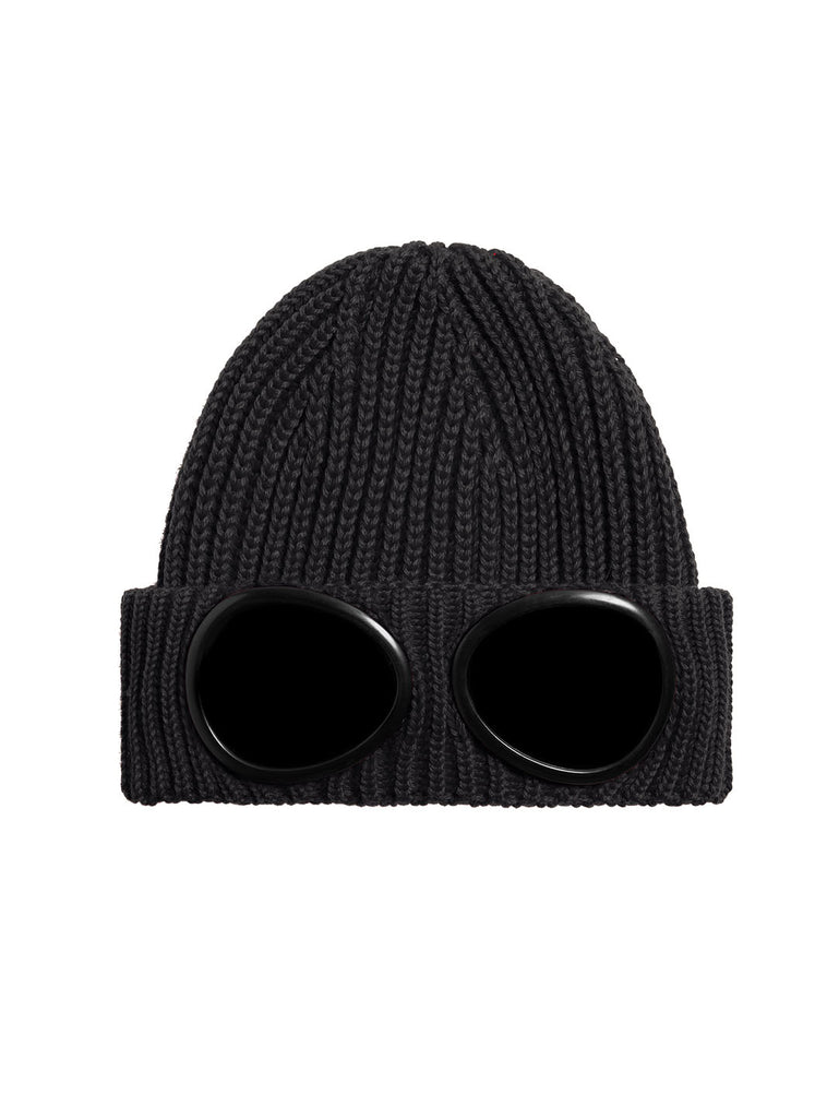 Extrafine Merino Wool Knit Cap in Black