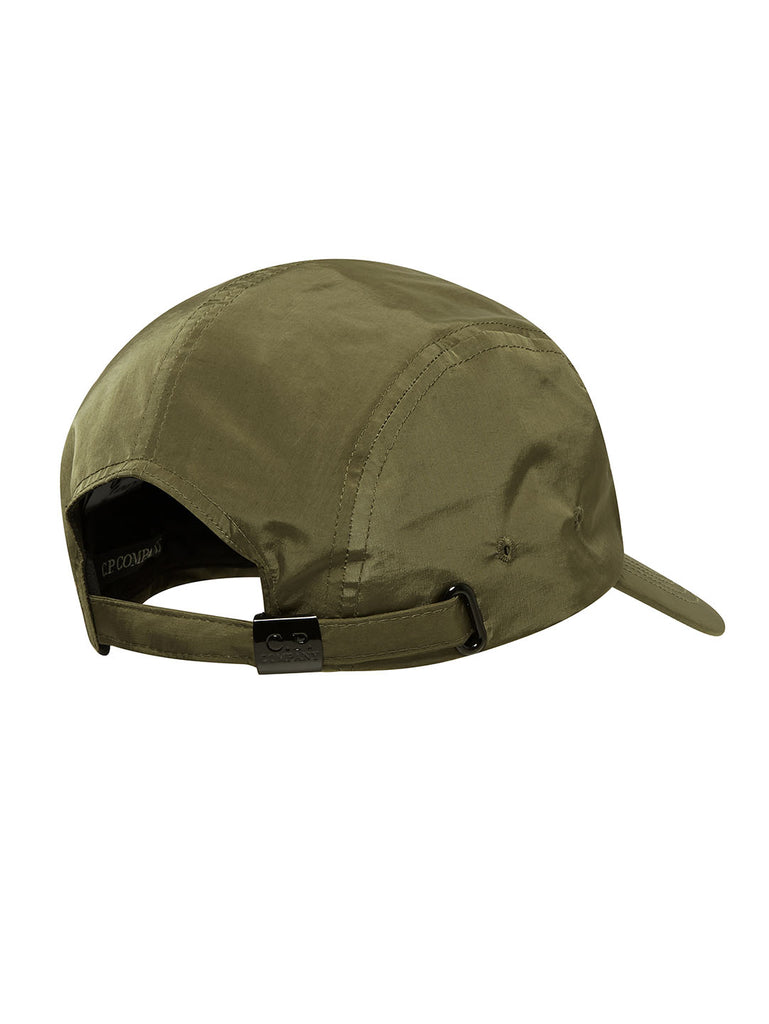 Chrome Five Panel Cap in Beech