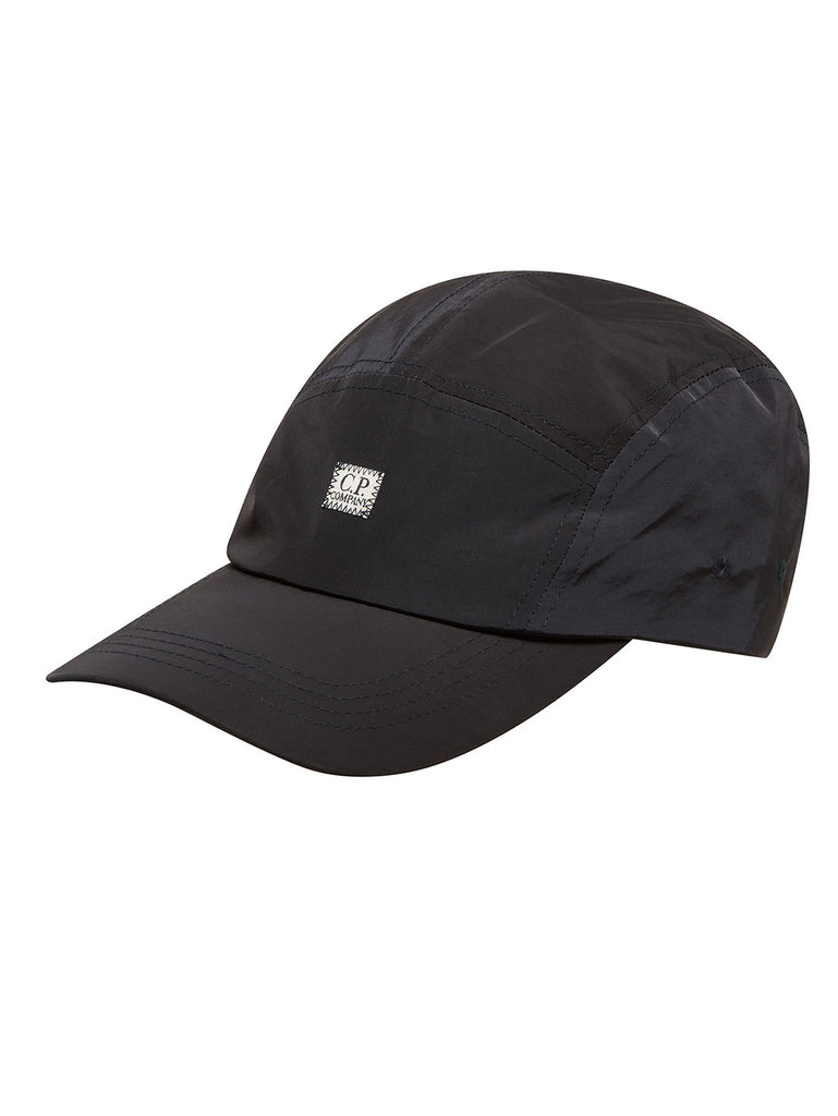 Chrome Five Panel Cap in Total Eclipse