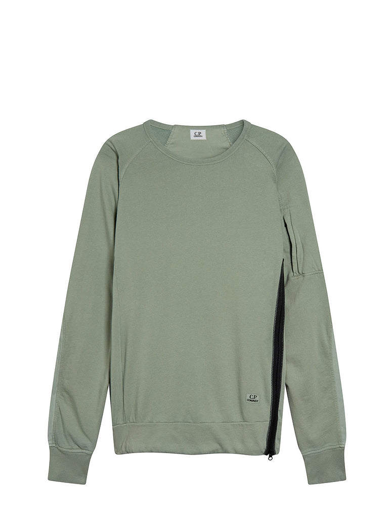 Cotton Fleece Crew Sweatshirt in Green Bay