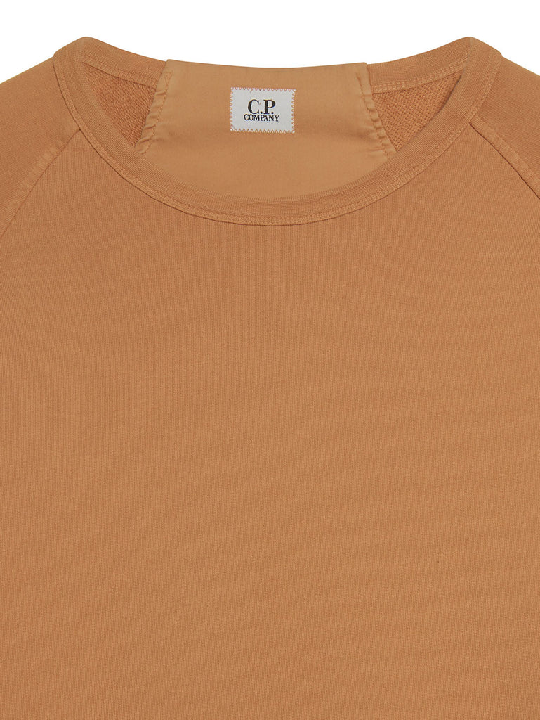 Cotton Fleece Crew Sweatshirt in Topaz