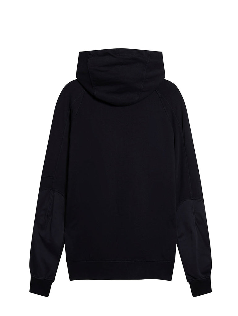 Cotton Fleece Zip Hoodie in Total Eclipse