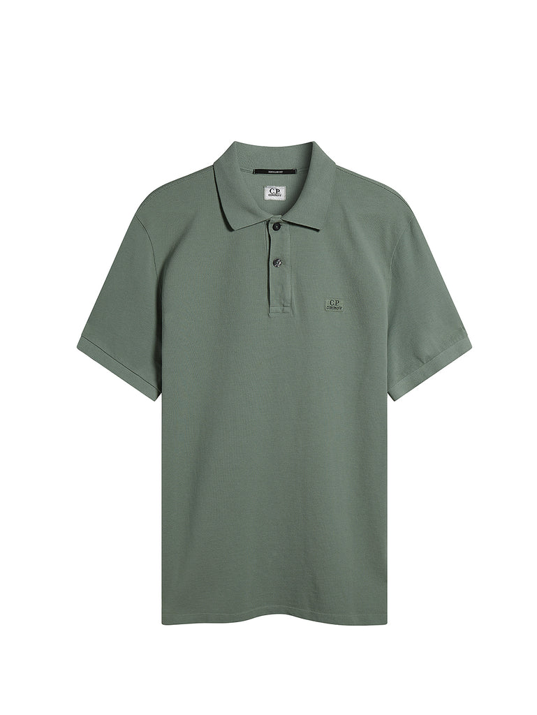 Cotton Piquet Polo Shirt in Green Bay