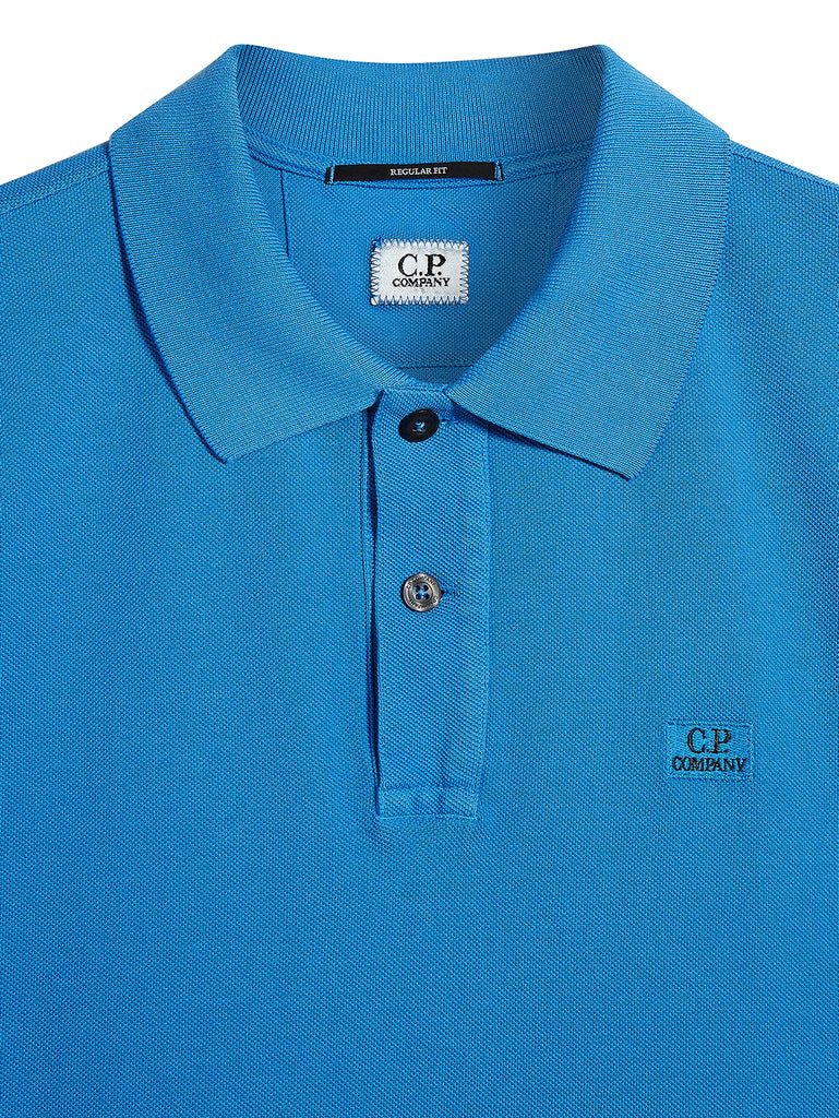 Cotton Piquet Polo Shirt in Imperial Blue