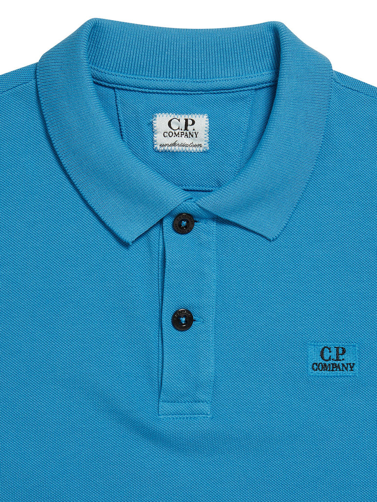 Undersixteen Cotton Piquet Polo Shirt in Imperial Blue