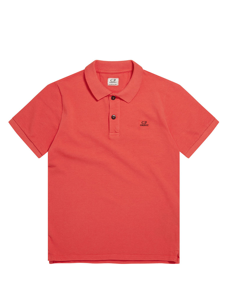 Undersixteen Cotton Piquet Polo Shirt in Poinciana