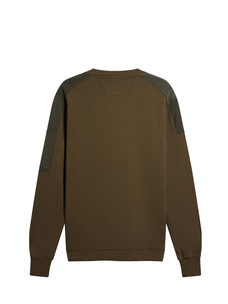Cotton Fleece Utility Crew Sweatshirt in Beech
