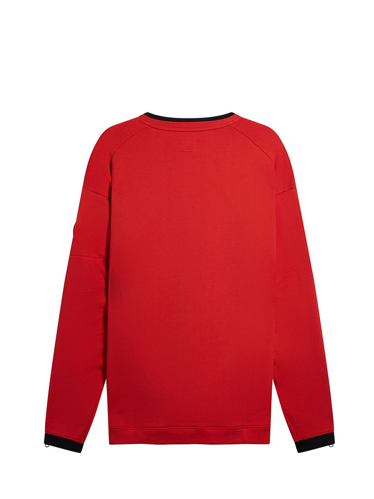 Diagonal Fleece Lens Crew Sweatshirt in Poinciana