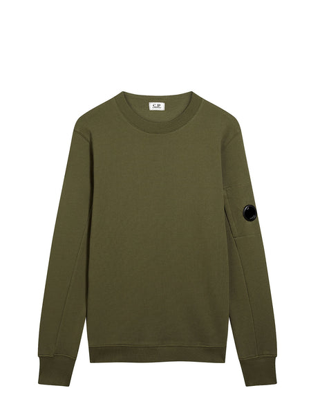 Diagonal Fleece Lens Crew Sweatshirt in Beech