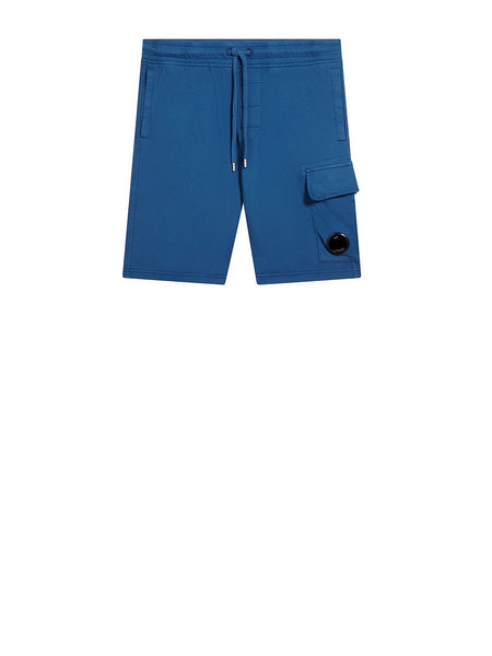 Garment Dyed Light Fleece Lens Pocket Sweatshort in Moroccan Blue