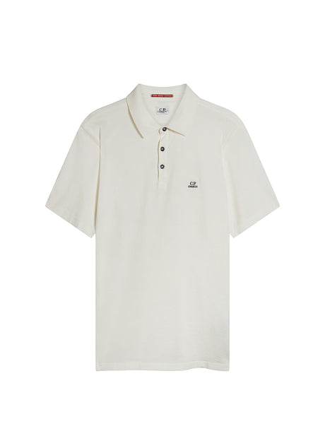 Garment Dyed Makò Jersey Polo Shirt in White