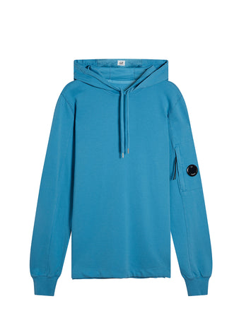 Garment Dyed Light Fleece Hooded Sweatshirt in Bluejay