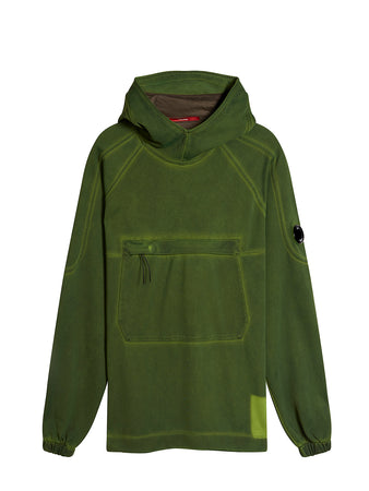Re-Colour II Fluo Fleece Hooded Lens Sweat in Dusty Olive
