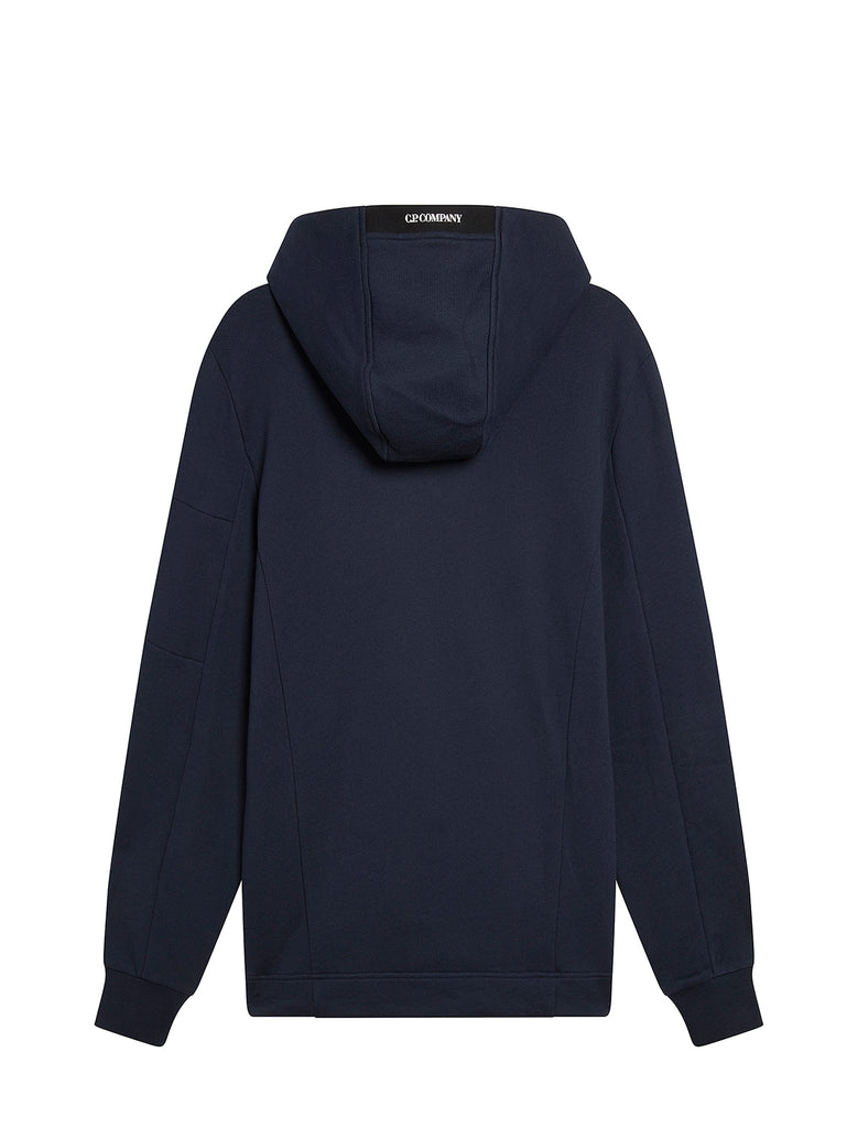Diagonal Raised Fleece Full Hood Sweatshirt in Total Eclipse
