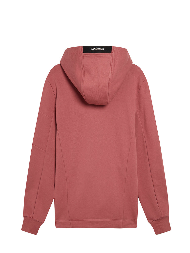 Diagonal Raised Fleece Full Hood Sweatshirt in Roan Rouge