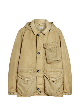 M-Bossed Goggle Jacket in Pale Olive Green