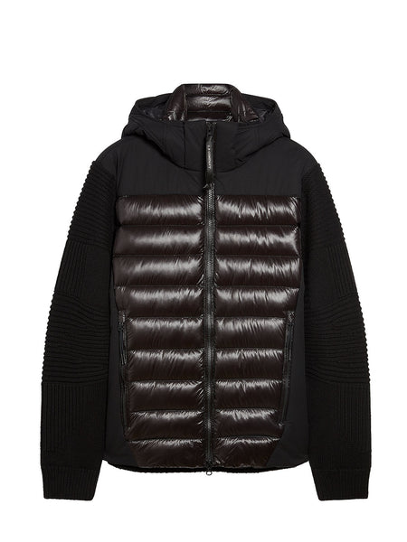 Lambswool/Nylon Knit Jacket In Black