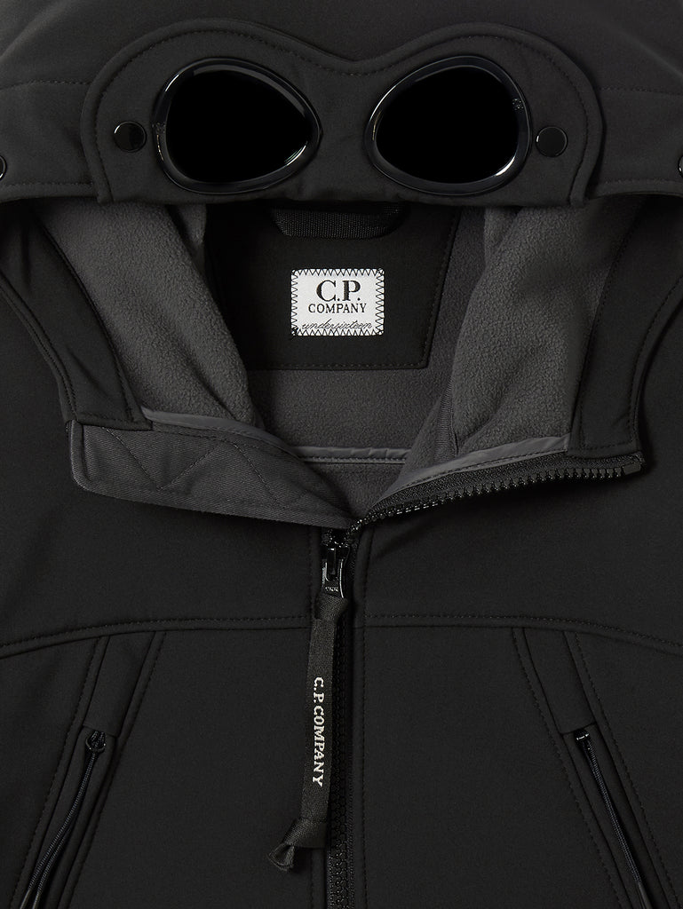Undersixteen C.P. Shell Goggle Hoodie in Black
