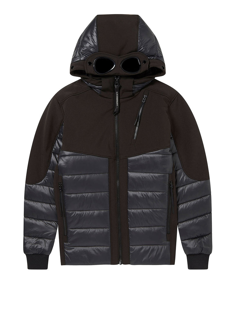 Undersixteen C.P. Shell Mixed Padded Goggle Jacket in Black