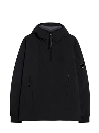 C.P. Shell Quarter Zip Smock in Black