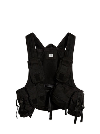 Nylon B. Lightweight Urban Protection Utility Vest in Black