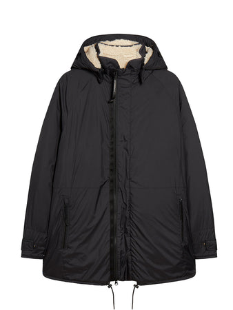 Poly Super Light Reversible Polar Parka in Black
